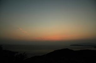 紀淡海峡の夕暮れの写真素材 [FYI04762909]