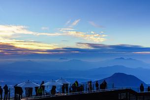 竜王マウンテンパークで迎える夕暮れの写真素材 [FYI04763069]