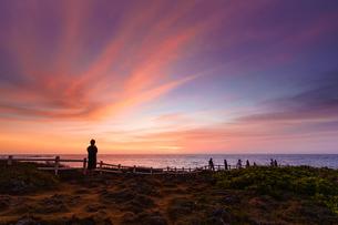 宮古島の夜明けの写真素材 [FYI04763118]