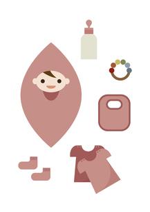 赤ちゃんとベビーグッズ イラストのイラスト素材 [FYI04763212]