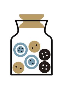 ボタンと瓶 イラストのイラスト素材 [FYI04763214]