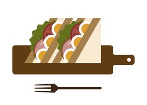サンドイッチとカッティングボードのイラスト素材 [FYI04763324]