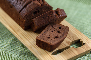 チョコのパウンドケーキの写真素材 [FYI04763579]
