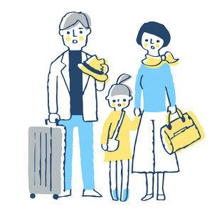 困った表情の家族 家族旅行のイラスト素材 [FYI04763715]