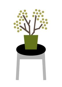 少しだけ春っぽい植物 イラストのイラスト素材 [FYI04763759]
