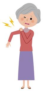 シニア女性 頭痛のイラスト素材 [FYI04763872]