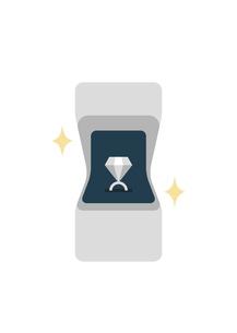 ダイヤモンドリング イラストのイラスト素材 [FYI04763892]