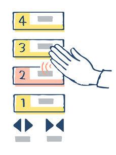 非接触型タッチパネル エレベーターボタンのイラスト素材 [FYI04764008]