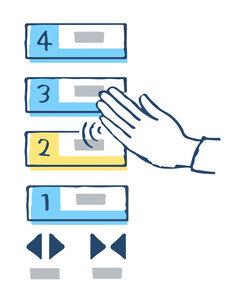 非接触型タッチパネル エレベーターボタンのイラスト素材 [FYI04764009]