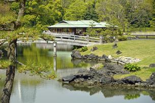 浜離宮恩賜庭園・中の橋と中島の御茶屋の写真素材 [FYI04765065]