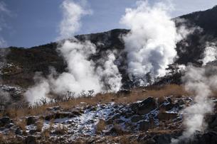 大涌谷の噴煙の写真素材 [FYI04765080]