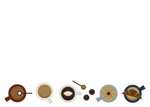 コーヒーカップ フレーム イラストのイラスト素材 [FYI04765137]