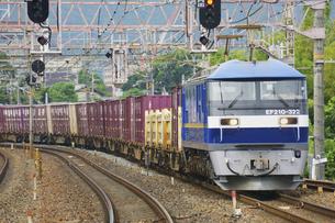 琵琶湖線のEF210貨物列車の写真素材 [FYI04765313]