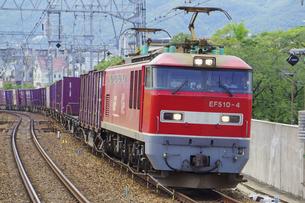 JR神戸線のEF510貨物列車の写真素材 [FYI04765320]