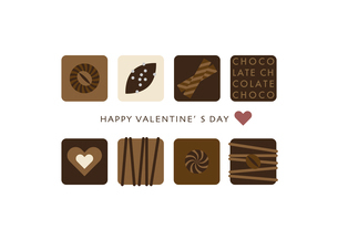 バレンタインデー チョコレート イラストのイラスト素材 [FYI04765443]