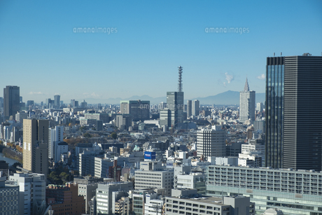 【東京都】文京区シビックセンターより鳥瞰【2020冬】の写真素材 [FYI04765539]