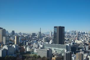 【東京都】文京区シビックセンターより鳥瞰【2020冬】の写真素材 [FYI04765540]