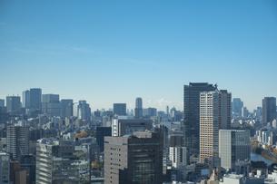 【東京都】文京区シビックセンターより鳥瞰【2020冬】の写真素材 [FYI04765541]