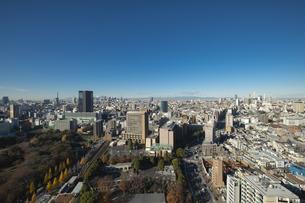 【東京都】文京区シビックセンターより新宿・池袋方面【2020冬】の写真素材 [FYI04765568]