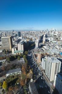 【東京都】文京区シビックセンターより新宿・池袋方面【2020冬】の写真素材 [FYI04765571]