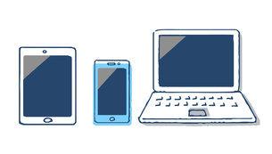 スマホとタブレット端末とノートパソコンのイラスト素材 [FYI04765697]