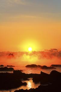 海霧に朝日の写真素材 [FYI04766058]