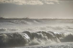 大しけの海の写真素材 [FYI04766067]