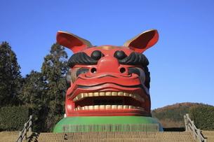 茨城県、常陸風土記の丘の獅子頭の写真素材 [FYI04766155]