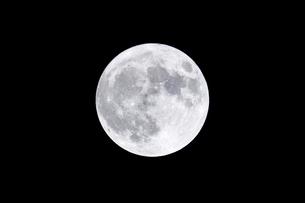 夜空に浮かぶ満月の写真素材 [FYI04766256]
