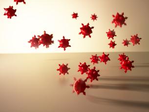 飛んでくるウイルスの写真素材 [FYI04766283]