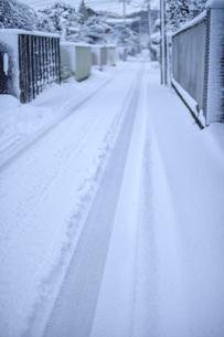 雪の路地の写真素材 [FYI04766483]