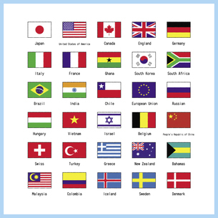 世界の主な国旗のセット 一覧表 イラストのイラスト素材 [FYI04766654]
