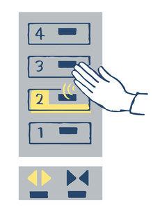 非接触型タッチパネル エレベーターボタンのイラスト素材 [FYI04766663]