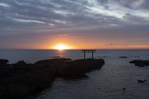 大洗海岸の朝日の写真素材 [FYI04766728]