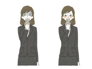 スーツの女性-ショック-嬉しいのイラスト素材 [FYI04766809]