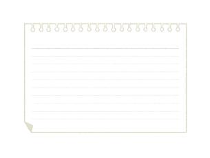 ノート-メモ用紙のイラスト素材 [FYI04766817]