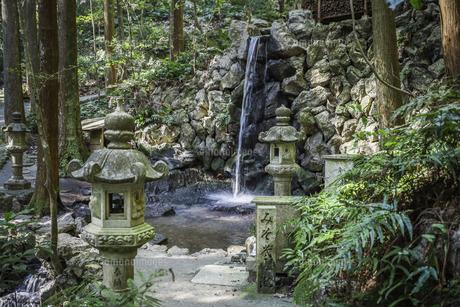 天の岩戸禊滝の写真素材 [FYI04766986]