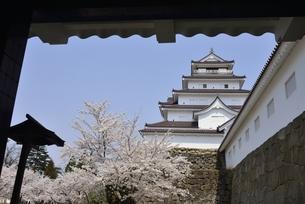 会津若松城(鶴ヶ城)黒鉄門の写真素材 [FYI04767721]