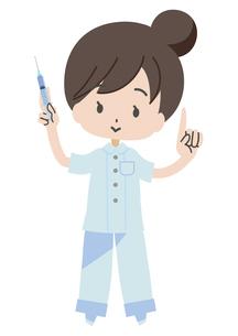 注射器を持つ看護師のイラスト素材 [FYI04767957]