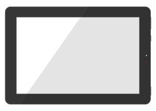 シンプルなタブレット端末のイラスト素材 [FYI04767975]