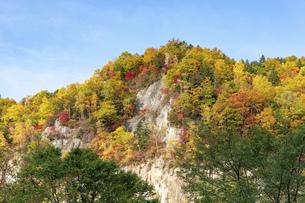北海道 層雲峡の紅葉の写真素材 [FYI04768136]