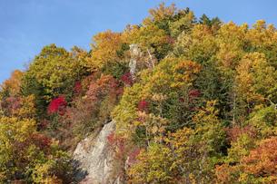 北海道 層雲峡の紅葉の写真素材 [FYI04768137]