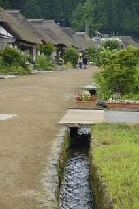 大内宿 用水路の写真素材 [FYI04768231]