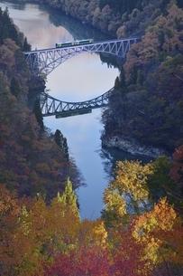 会津只見線 第一橋梁の写真素材 [FYI04768345]