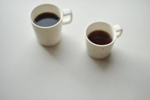 朝の光とモーニングコーヒーイメージ写真の写真素材 [FYI04768466]