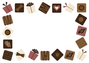チョコレート プレゼント フレーム 白のイラスト素材 [FYI04768753]
