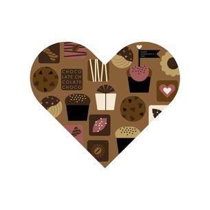 チョコレートのお菓子 ハートマークのイラスト素材 [FYI04768756]