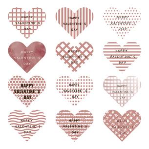 バレンタイン ハート パターン ピンクのイラスト素材 [FYI04768792]
