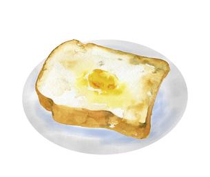 バタートーストの水彩画のイラスト素材 [FYI04769288]