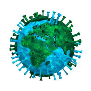 コロナウイルスで汚染された地球のイラストヨーロッパのイラスト素材 [FYI04769454]